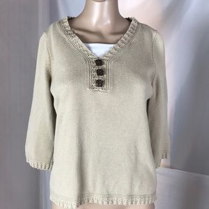 Christopher Banks 100% Cotton Sweater Size M/P